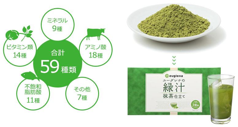 ユーグレナの緑汁 抹茶仕立て
