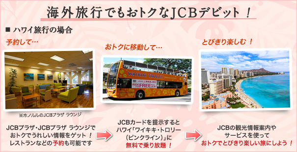 三菱東京UFJ-JCBデビットの旅行サポート